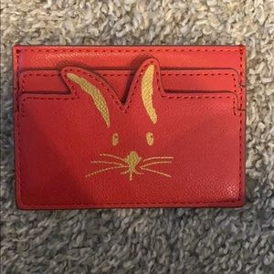 Red rabbit face wallet
